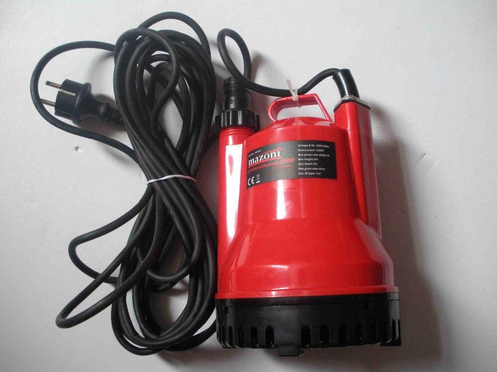 Погружной водяной насос 250 Вт Электрический Чистой Воды AC 220 В 230 В 240 В 50 Гц, сад сельскохозяйственного орошения, бассейн оборудования