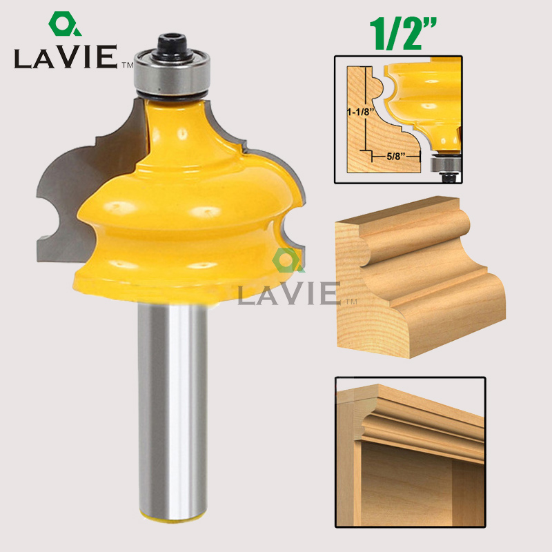 LA VIE 1PC 1/2 Shank Wood Cutter Classical Bead Molding Edging Router Bit End Mill Router Bits for Wood fresa MC03013 1pc 1 4 shank high quality roman ogee edging and molding router bit wood cutting tool woodworking router bits chwjw 13180q