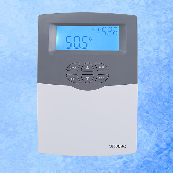 SR609C Solar Water Heater Controller for Compact Pressurized System with 20A 3000W H1 with Sensor PocketSR609C Solar Water Heater Controller for Compact Pressurized System with 20A 3000W H1 with Sensor Pocket