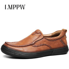Luxury Brand Handmade Men Loafers Fashion Vintage Mens Business Casual Cow Leather Shoes Moccasins Men Loafers Men Flats 2A цена