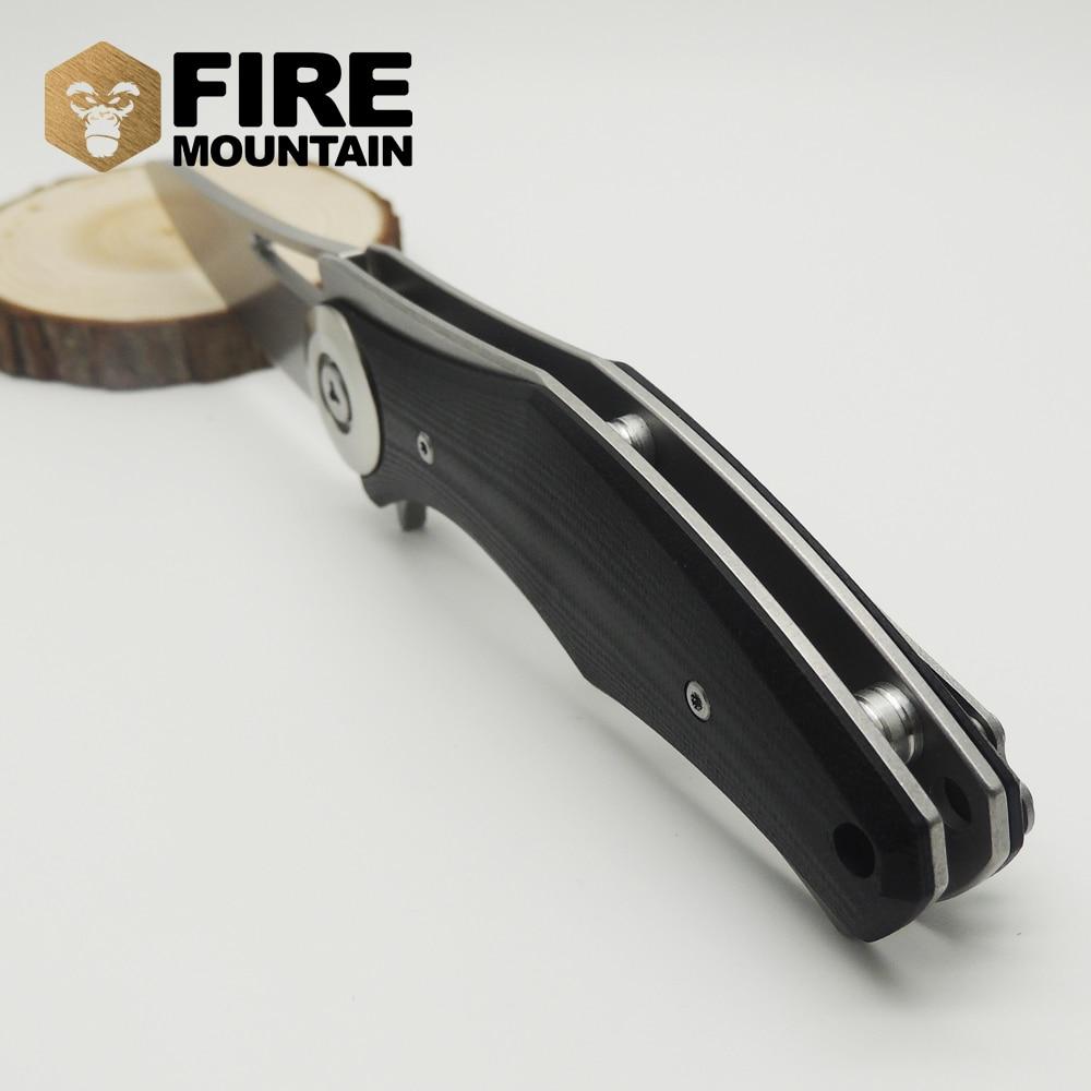 BMT Bear Dark Tictical Flipper kokkuklapitav tera nuga D2 tera G10 - Käsitööriistad - Foto 6