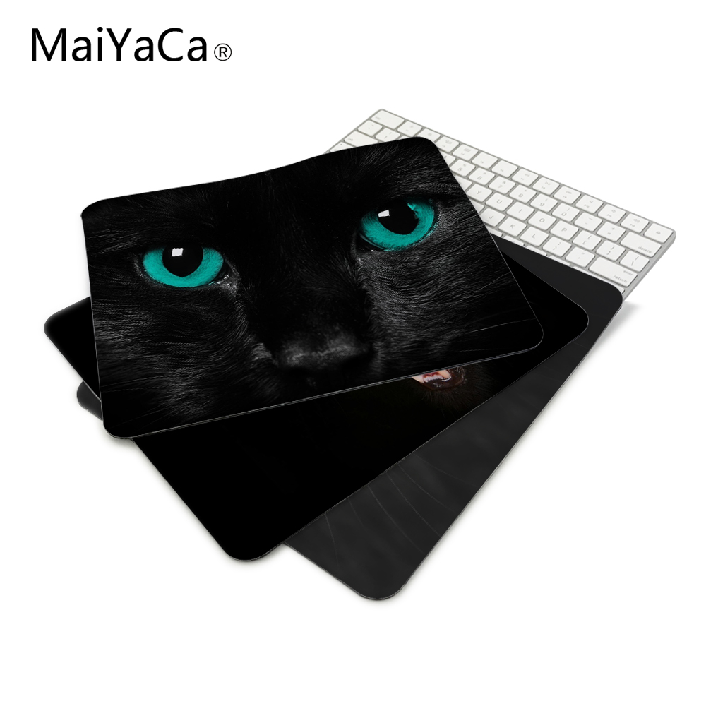 New mat Luxury BLACK CAT BEAUTIFUL ANIMALS wallpaper Mouse Mats Anti-Slip Rectangle Mouse Pad 18*22cm and 25*29cm maikou mouse pad cat wears eyeglasses