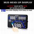 Plug & Play Coche Q7 5.5 Pulgadas Coche Universal HUD Head Up Display HUD GPS Sobrevelocidad Advertencia Dashboard Del Parabrisas Del Proyecto velocímetros