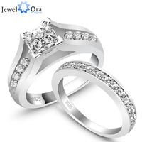 RI100499 China Wholesale Fine 925 Sterling Silver Ring Fashion Luxury Zircon Wedding Rings