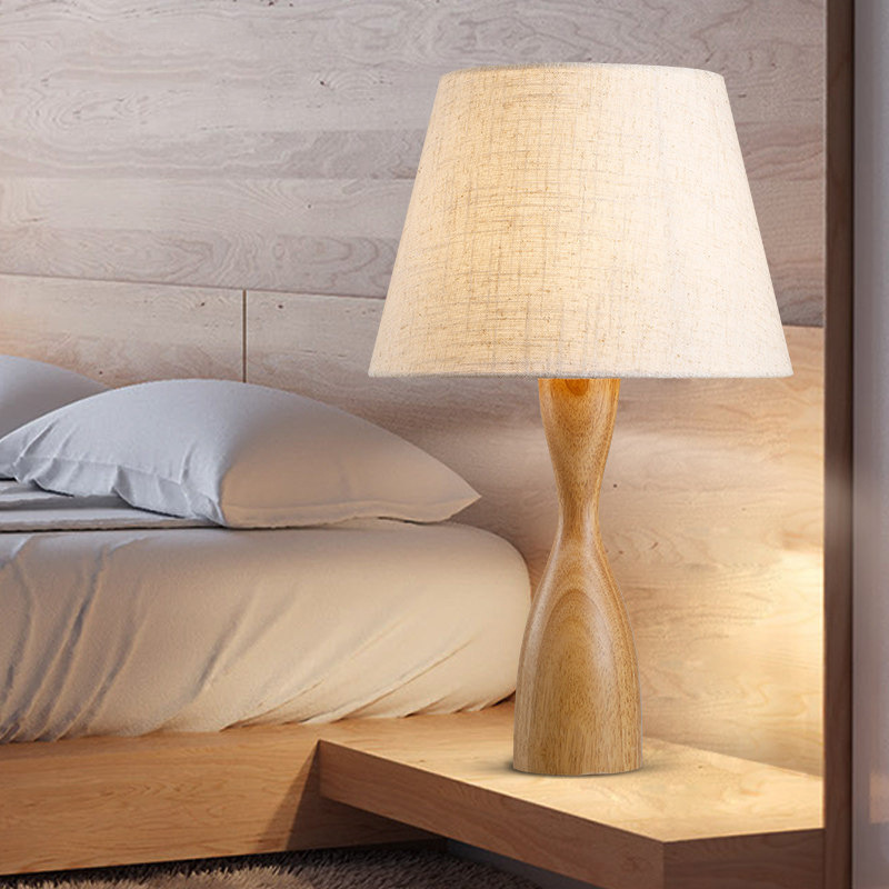 TUDA Free Shipping LED Solid Wooden Table Lamp Modern Minimalist Style Table Lamp For Bedroom Living Room Bedside Desk Lamp E27 tuda free shipping glass table lamp european retro style table lamp creative nostalgic table lamp for bedroom bedside desk lamp