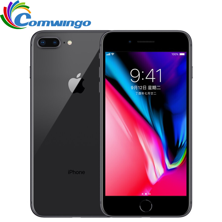 Original desbloqueado apple iphone 8 más 5.5 pulgadas Ram 3 GB ROM 64G hexa Core 12mp 2691 mAh IOS LTE huella digital iPhone 8 P teléfono móvil