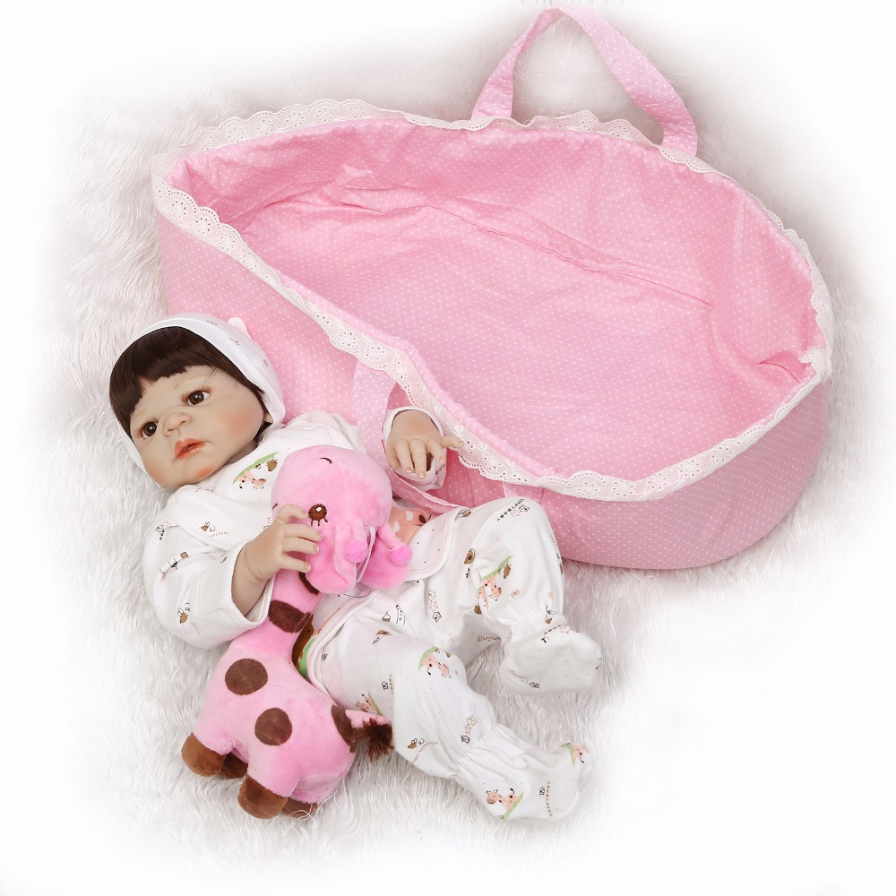 Image 2 - NPK 56cm full body Silicone reborn Baby Doll Girl Newbron Lifelike Bebes Reborn toys playmates for kids with sleeping bag-in Dolls from Toys & Hobbies