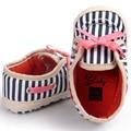 ROMIRUS Ребенок Холст Обувь Плед Повседневная Полосатый Шаблон с Бантом босоножки Для Детей детские Девушки Парни