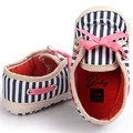Romirus bebé zapatos de lona a cuadros patrón de cebra ocasional con bowknot con cordones para niños niños chicas chicos