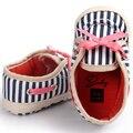 Romirus sapatas de lona casual xadrez padrão zebra do bebê com bowknot lace-up para as crianças crianças meninas meninos