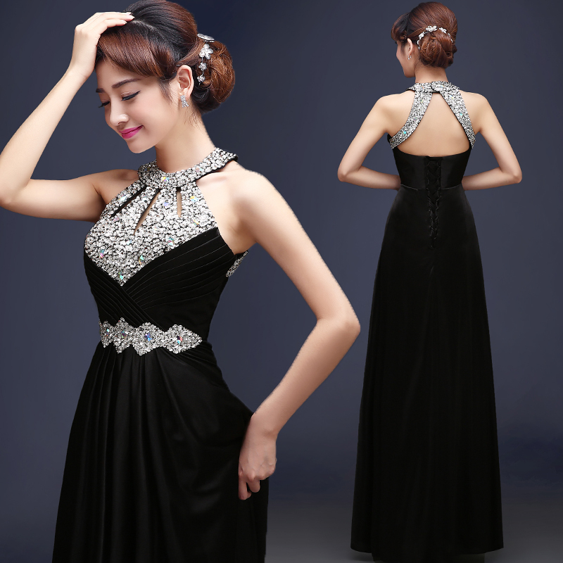 db66b9ef996d Detail Feedback Questions about Formal Bridesmaid Dress Women Halter ...