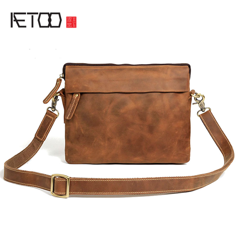 AETOO Original à la main en cuir d'embrayage sac à bandoulière en cuir Messenger sac rétro sac de casual hommes crazy horse en cuir han