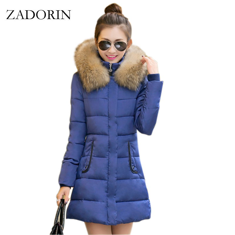 Womens Winter Jackets And Coats 2016 Fashion Thick Warm Cotton Padded Hooded Jacket Fur Collar Parka Women Jackets Manteau Femme стоимость