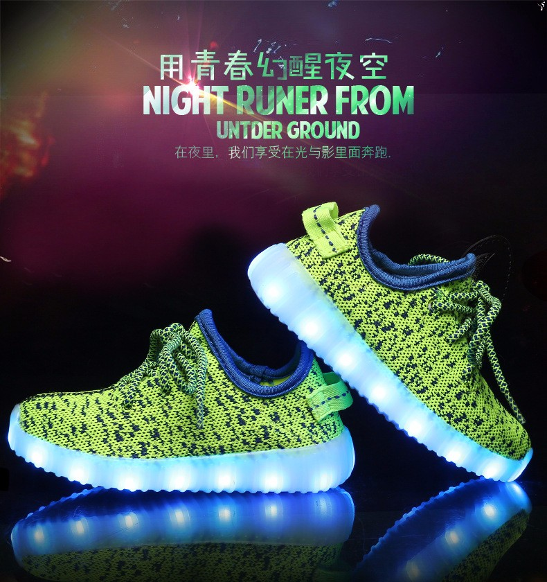 2016 NEW Children Luminous Sneakers USB Charging Kids LED Luminous Shoes Boys Girls of Colorful Flashing Lights Sneakers (3)