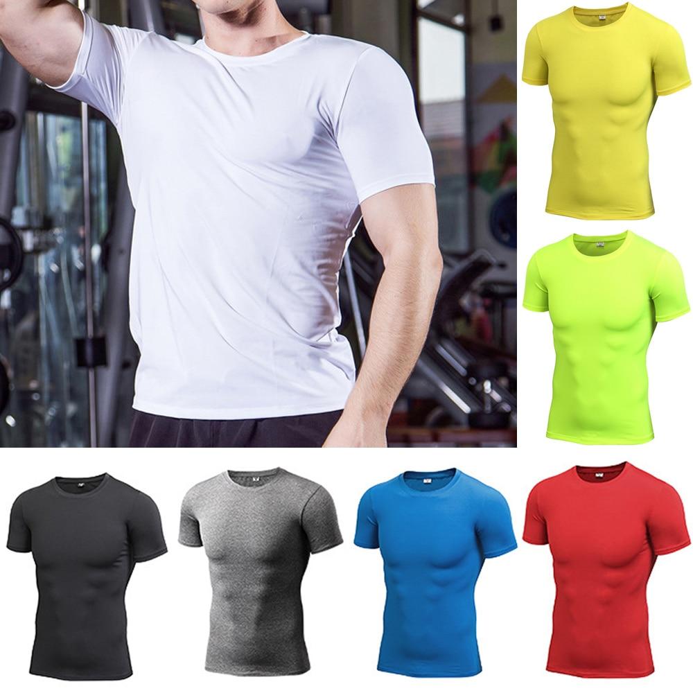 Men/'s Quick Dry Short Sleeve T-Shirt Running Fitness Athletic Shirts Sportswear