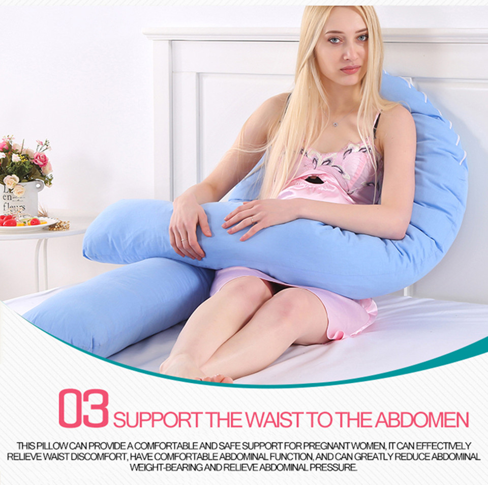 Bedding Pillows U Shape Pregnancy Pillow Full Body Maternity Pillow Comfort Sleeping Support Pillow For Pregnant Women Body _11_
