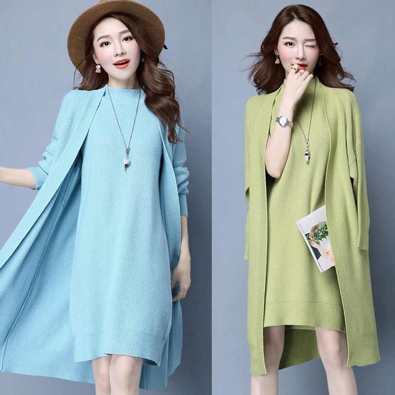 Pure Wine Sweater Skirt green Wild Orange Elegant Thin Costumes For red Pieces Deux Fashion blue Colour beige Temperament gray black Ensemble Ol Set Women Generous Femme XCqERw