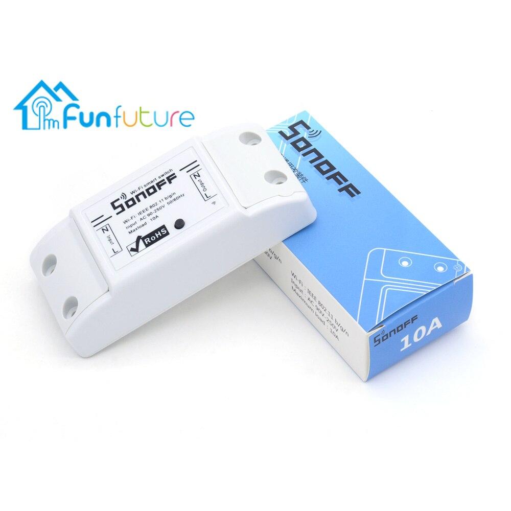 SONOFF commutateur Wifi de base pour Alexa commutateur à distance sans fil Module d'automatisation intelligente domotique 10A/2200 W