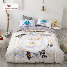 SlowDream 100% Cotton Nordic Bedding Set Double Flat Sheet Or Fitted Sheet Duvet Cover Set Single Size Bed Linens Bedspread Set