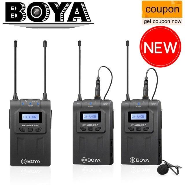 BOYA BY-WM6/BY-WM5/BY-WM8 pro-uhf système de Microphone sans fil omnidirectionnel Microphone de Lavalier pour ENG EFP DV DSLR