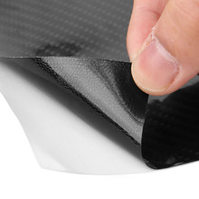 Black Carbon Fiber Film Car Sticker Decal Wrap DIY Cover Parts Accessories 1x(China)