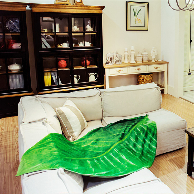Super Soft Flannel Plant Blanket Green Leaves Texture Throw Blankets for Beds Sofa Travel Home Decoration 9A16Super Soft Flannel Plant Blanket Green Leaves Texture Throw Blankets for Beds Sofa Travel Home Decoration 9A16