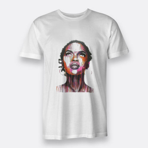 Mens 3D Short Sleeve Lauryn The Miseducation Hill Tee T-Shirt White