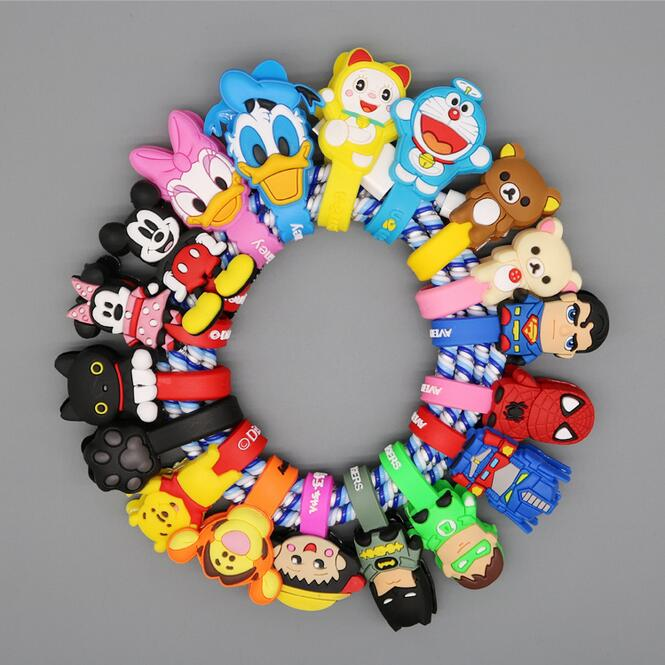 10pcs lot Cartoon Headphone Earphone font b Cable b font Wire Organizer Cord Holder USB Charger