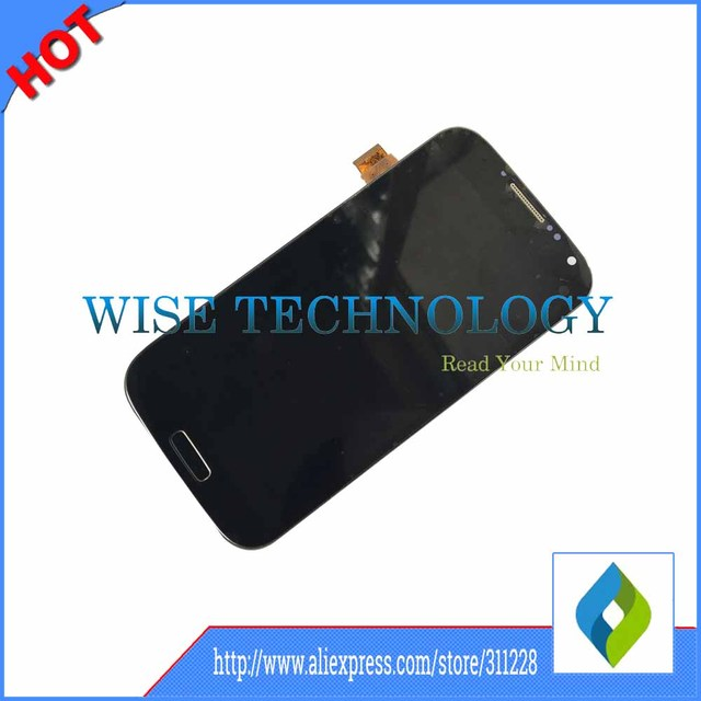 10 unids/lote para samsung galaxy s4 i9506 gt-i9506 pantalla lcd display de pantalla táctil digitalizador con marco asamblea negro blanco azul