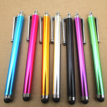 High Quality 50pcs/lot New Aluminum Metal Stylus Touch Screen Pen for Mobile Phone Tablet School Office Home Supplies