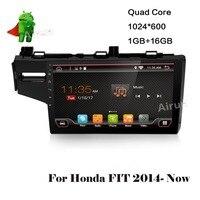 Android 6.0 Автомобильный DVD для Honda Fit 2014 LHD Автомобильный GPS аудио плеер стерео Штатная мультимедиа построить в 4 г модуль