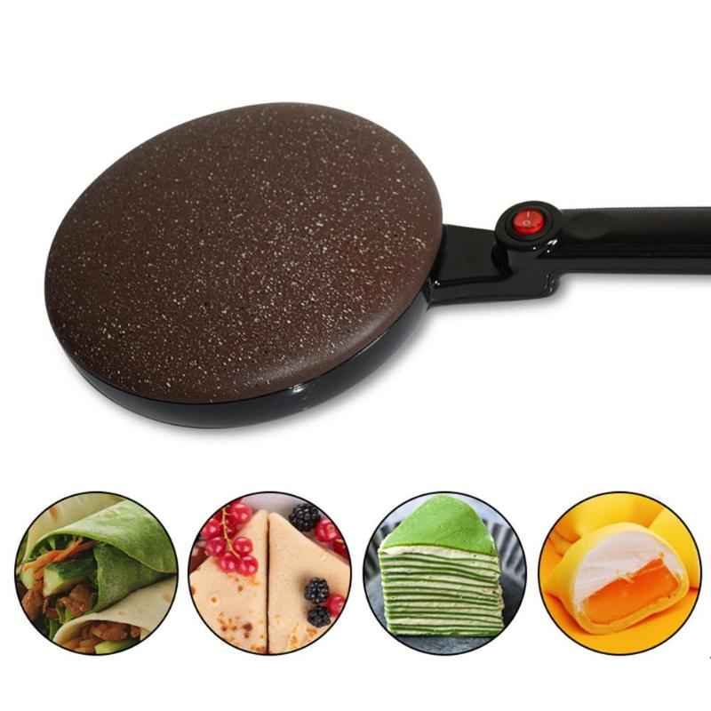 Portable Electric Crepe Maker Machine Pizza Pancake Machine Non-stick Griddle Baking Pan Cake Machine Kitchen Cooking Tools New