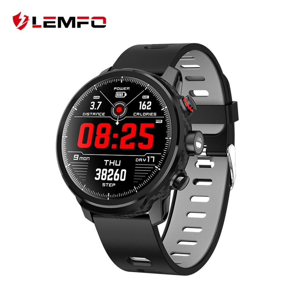 LEMFO L5 Smart Uhr Männer IP68 Wasserdichte Standby 100 Tage Mehrere Sport Modus Herz Rate Überwachung Wetter Prognose Smartwatch