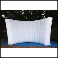 Free shipment 3.5m width New design hot sale attractive durable inflatable wall