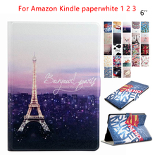 "for Amazon Kindle Paperwhite Tablet Case PU Leather 6"" E-Book Ebook Stand Case Cover Fundas for Amazon Kindle Paperwhite 1 2 3"