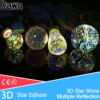 Silver Plated Glass 3D Star LED Edison Bulb 220v A60 ST64 G80 G95 Holiday Christmas Decoration