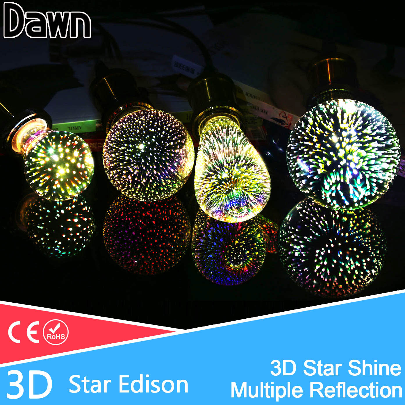 Silver Plated Glass 3D Star LED Edison Bulb 220v A60 ST64 G80 G95 Holiday Christmas Decoration Bar LED Lamp Lamparas Bombillas джинсы мужские g star raw 604046 gs g star arc