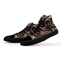 Парусиновые туфли бархатные мужские высокие серии ботинки в стиле «граффити» мужчин и обувь для учащихся Персонализированные пару прилив