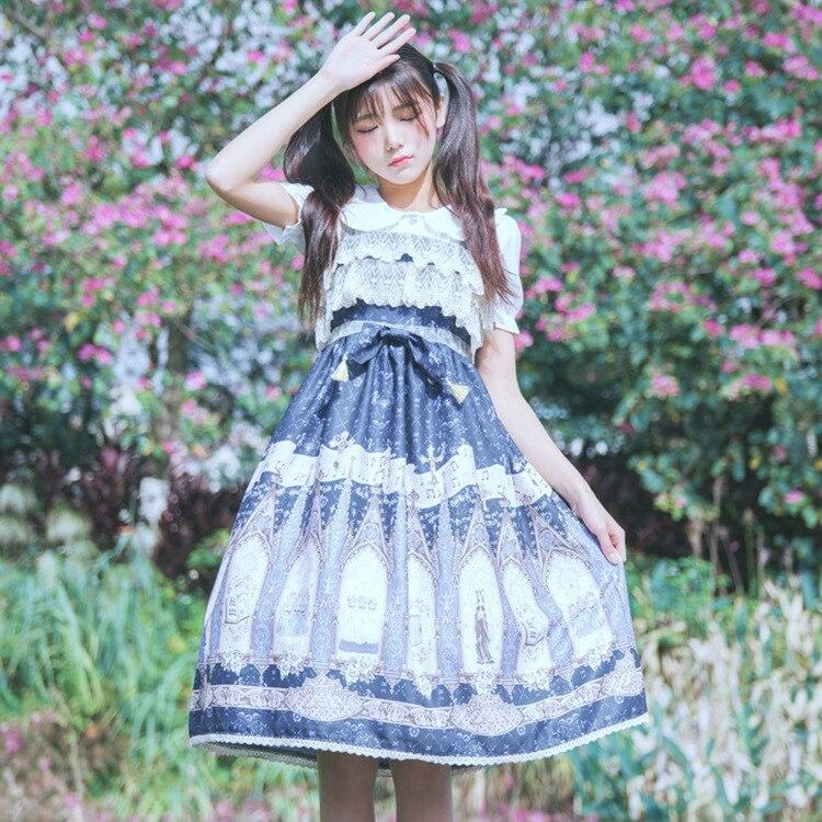 2019 Лято момичета сладка рокля Lolita - Дамски дрехи - Снимка 2