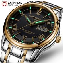 T25 tritio carnaval luminoso Doble calendario militar mecánico automático reloj de los hombres de la marca de lujo impermeable de los relojes reloj uhr