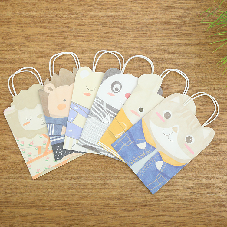 Cute Cartoon Animal Gift Bag Panda/Sheep/Hedgehog/Rabbit/Cat Paper Box Baby Shower Favor Boxes Birthday Party Wedding Candy Box