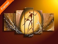 Canvas abstract dancer oil painting on living room wall modern home decoration canvas wall art gift for friends