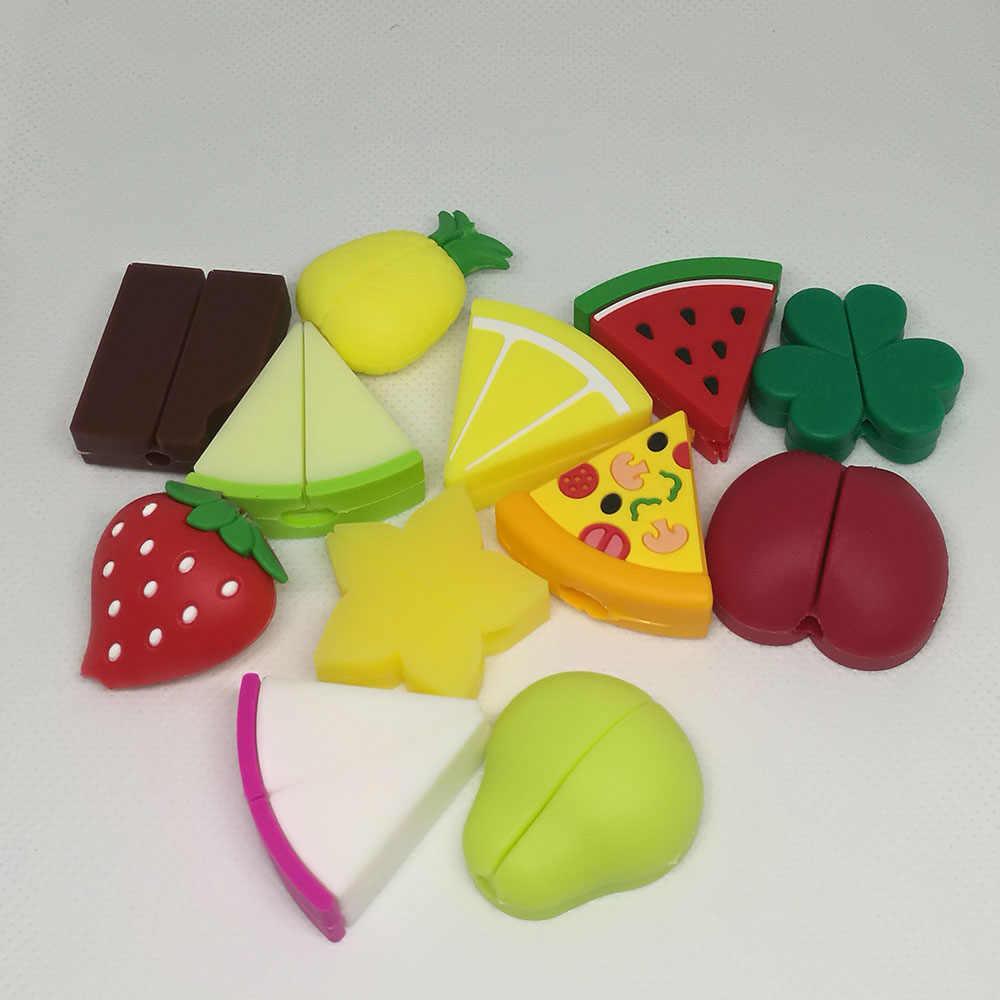 1 adet sevimli meyve kablosu koruyucu kablo tel lemon karpuz çilek koruma kapağı şarj kablosu sarıcı Iphone kablosu için