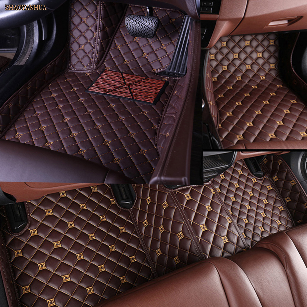 ZHAOYANHUA Car floor mats for Honda Jade City CRV CR-V Accord Crosstour HRV HR-V Vezel Civic 5D car styling carpet floor liners