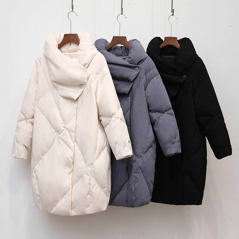 Duck warm Coat Women Winter Clothing 2018 Female Jacket High Quality Knee Length Vintage Down Jacket For Women   Parka   Overcoat