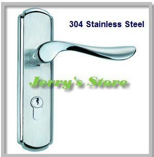 Wholesale- 304 Stainless Steel Lever Handle door lock, 5 sets/lot,Free Shipping 1pcs lot 304 stainless steel tube wells lock entrance privcy passage fire invisible door handle lock security door lever lock