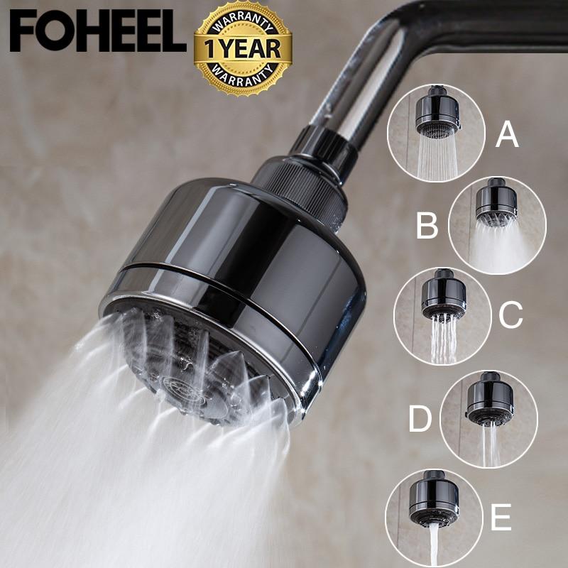 FOHEEL Full Function Multifunction Pressurized Water-saving Rotating Top Sprinkler Shower Head