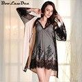 BooLawDee Женский дышащий комфортно халат и платье набор micofiber супер тонкий полный рукавом женщины лето ткань Ml XL 1W003