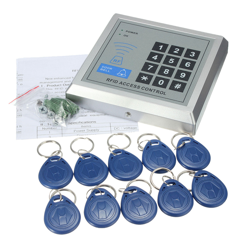 online buy whole rfid door access control manual from rfid proximity entry door lock access control system 500 user 10 rfid keyfobs english