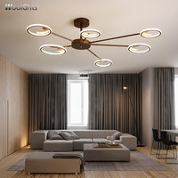 Wooights Ceiling Lights LED Lamp for Kids Bedroom living room lamparas de techo Round circle Avize Lustre Ceiling Lamp office